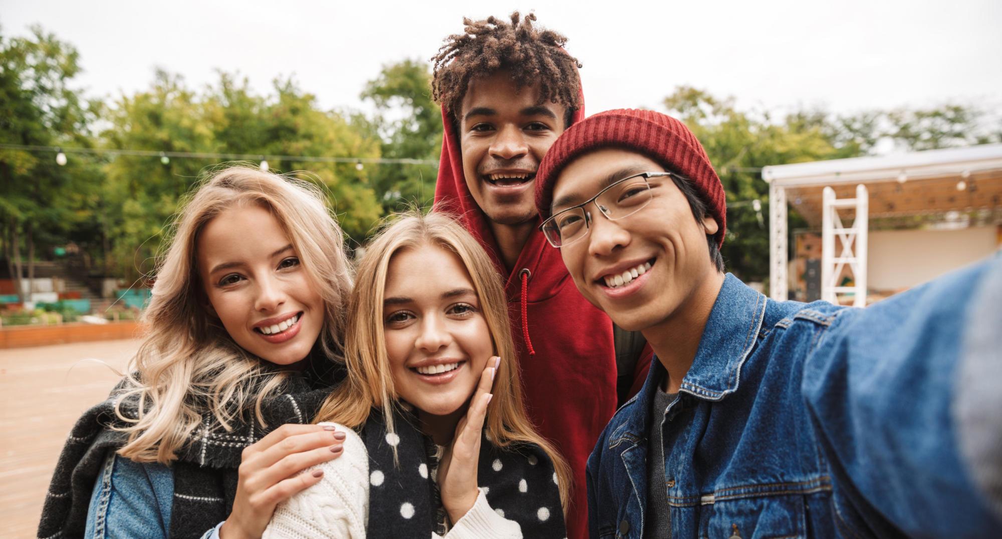 Teens Group Selfie