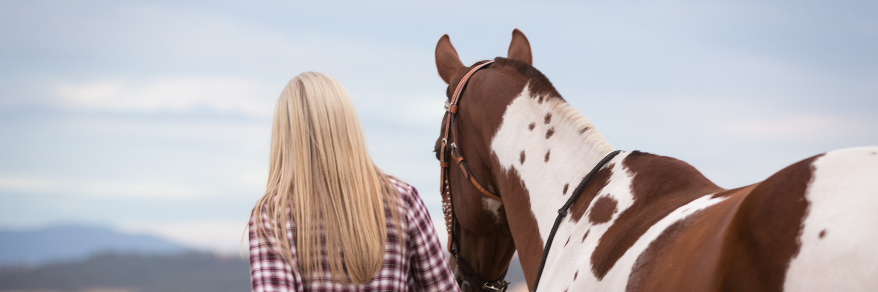 Girl and Horse Subpage Header